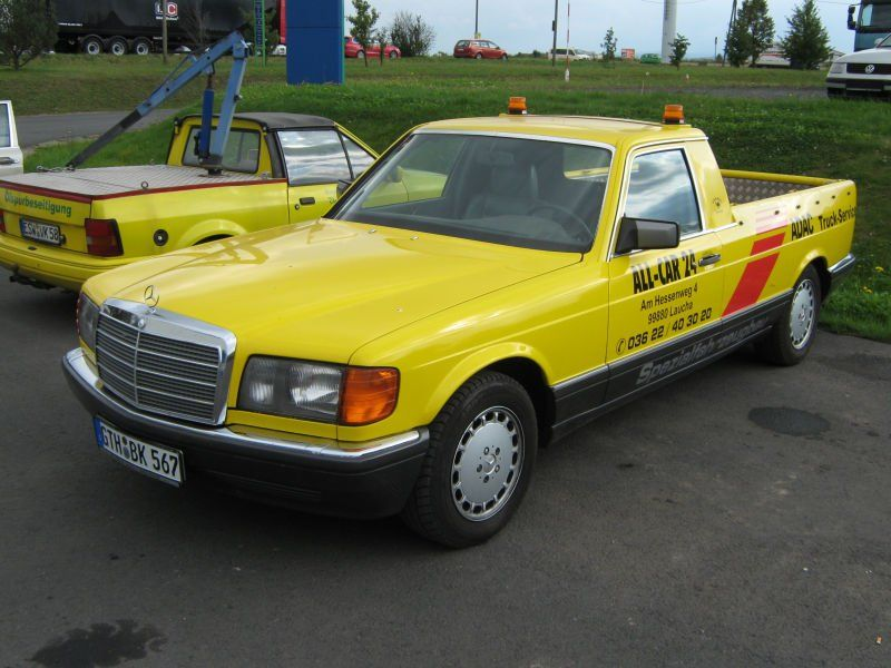 Power cars mercedes benz w126 pick up for Mercedes benz pick up