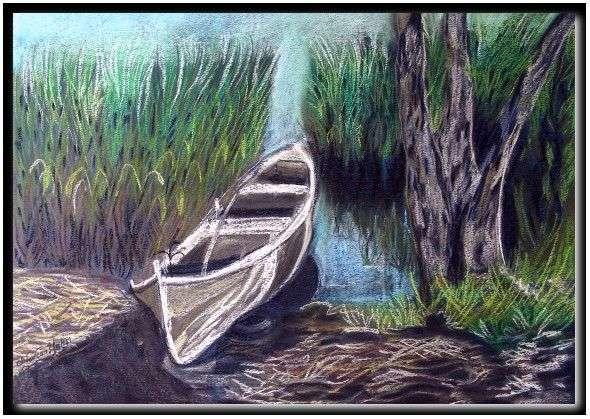 Pastel boya kayık resimleri pastel boya kayık resimleri